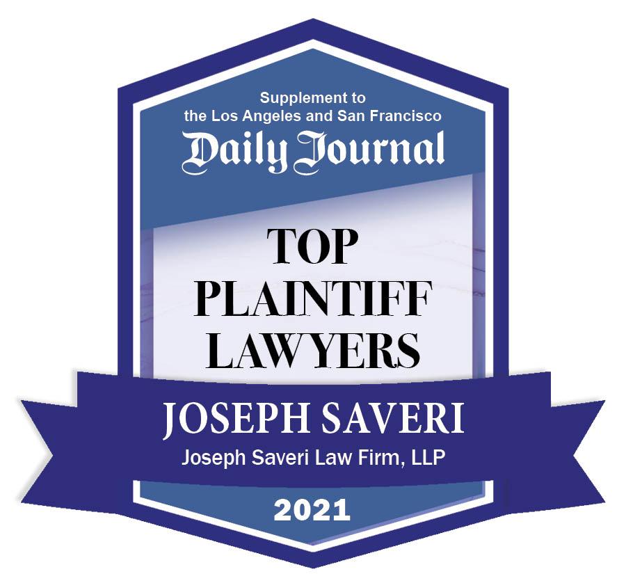 TOP PLAINTIFF 2021 BADGE Joseph Saveri