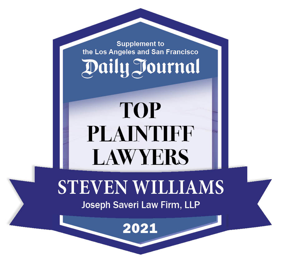 TOP PLAINTIFF 2021 BADGE Steven Williams